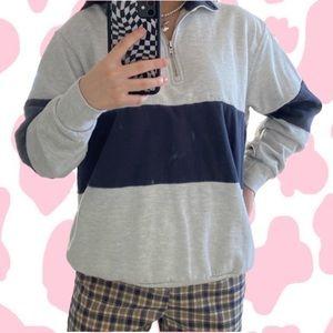 Brandy Melville Half-Zip Up Sweatshirt